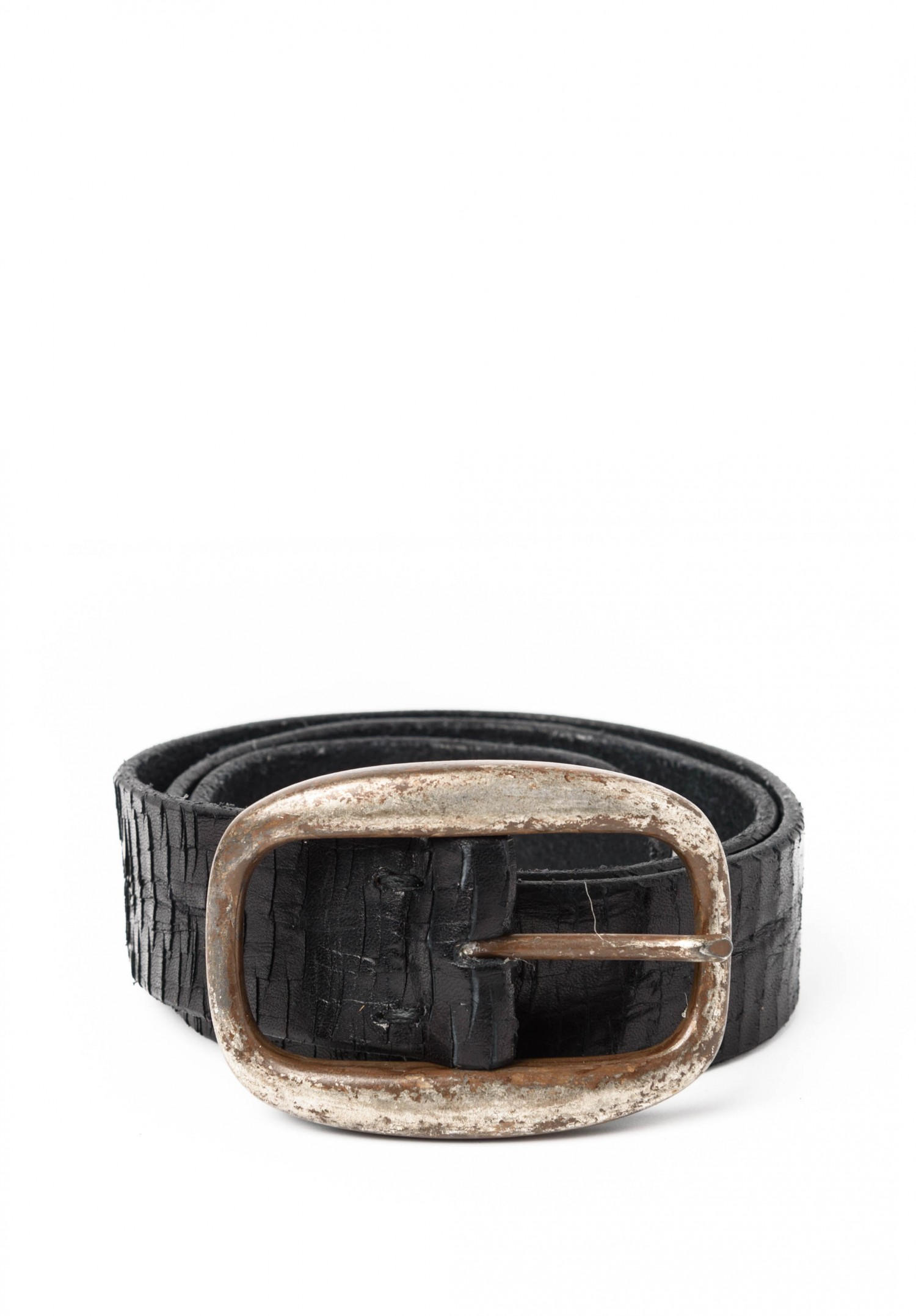 riccardo forconi scored leather belt in black santa fe