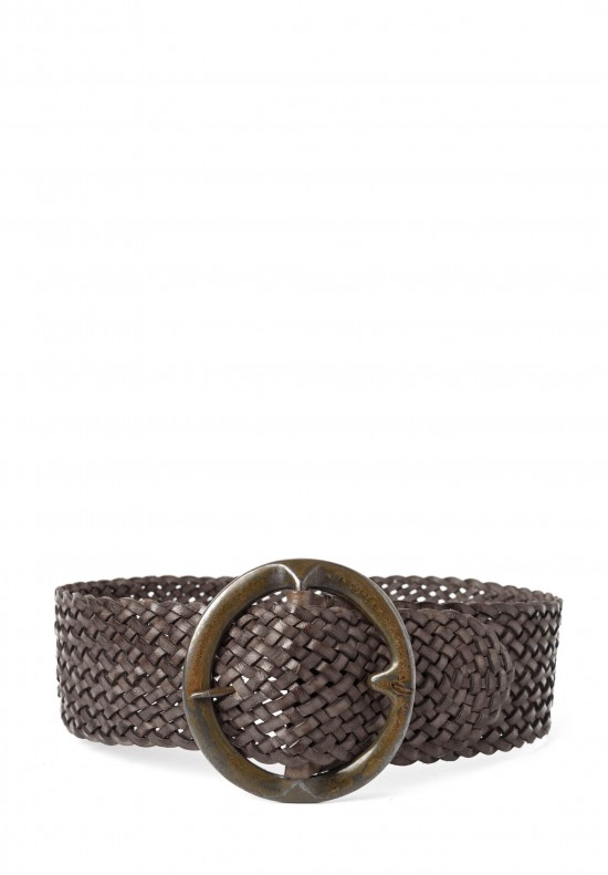 Riccardo Forconi Wide Woven Belt in Bronze
