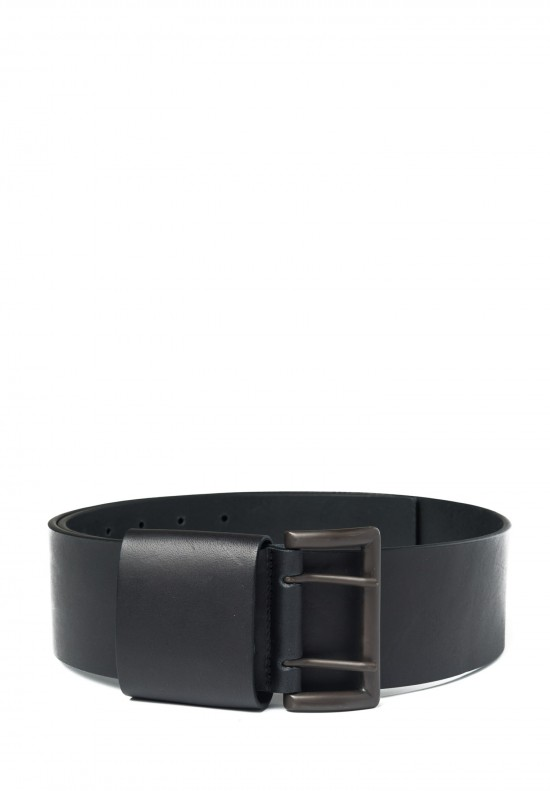 Rundholz Thick Leather Belt in Black