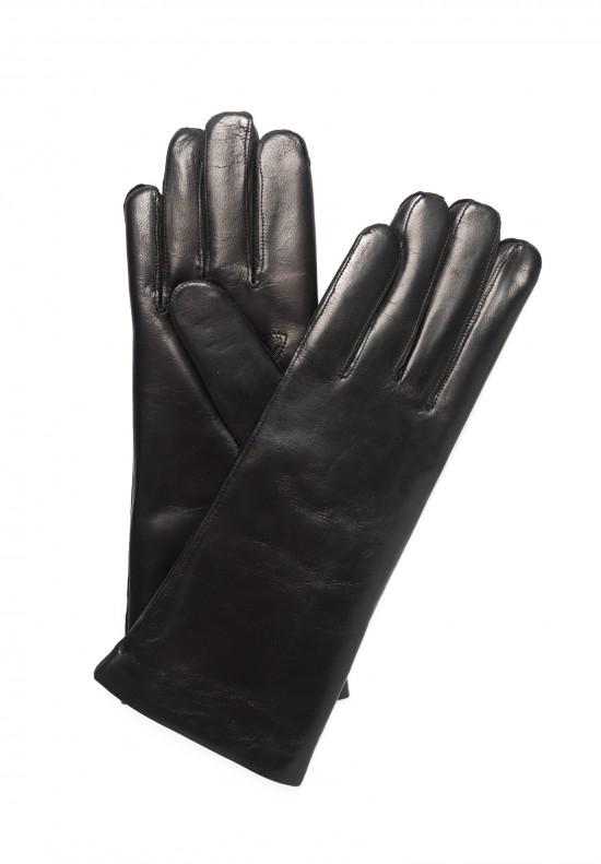 Hestra Cashmere Lined Hairsheep Gloves in Black