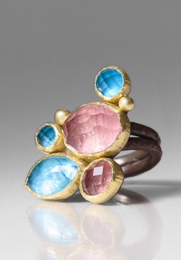 Maria Frantzi Tourmaline & Apatite Doublets Ring