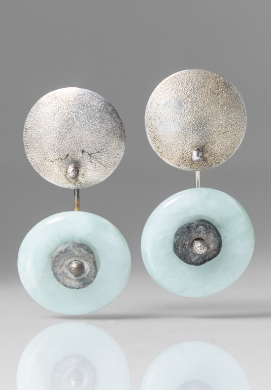 Holly Masterson Pale Green Jade Disk Earrings