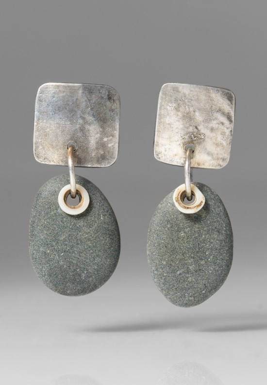 Holly Masterson Single Oval Stone Earrings