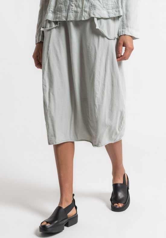 Rundholz Black Label Mock Pocket Tulip Skirt in Sea