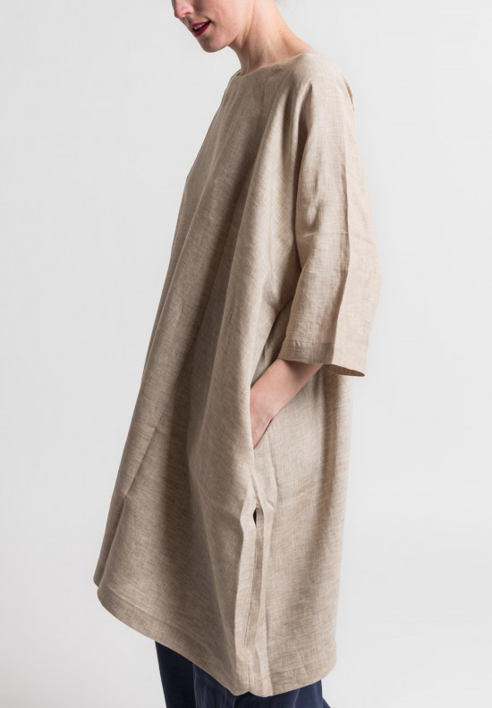 Daniela Gregis Lightweight Linen Tunic in Natural