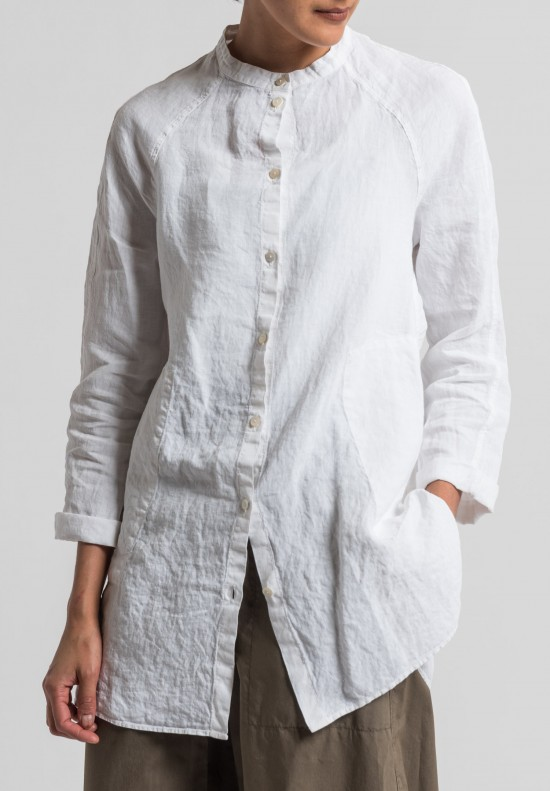 Oska Linen Tia Tunic in White