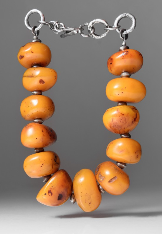 Holly Masterson Large Tibetan Amber Necklace