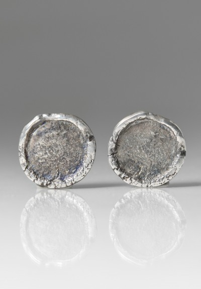 Holly Masterson Post Earrings with Large Sterling Silver Disks