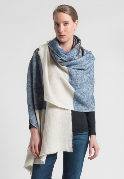 Denis Colomb Dolpo Tribal Shawl in Indigo