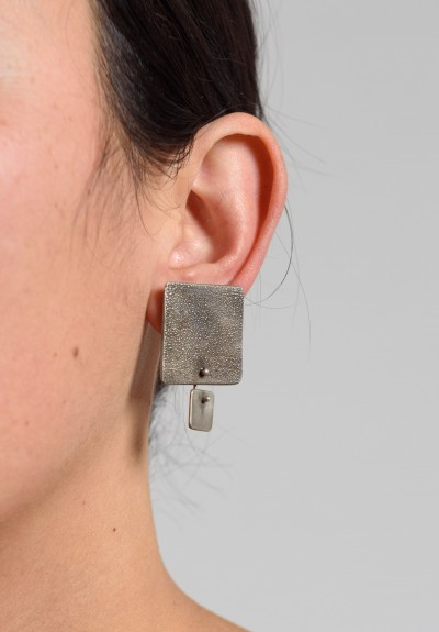 Holly Masterson Large Square Sterling Silver Post Earrings