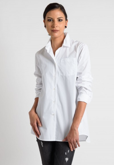 Lareida Cotton Long Sleeve Shirt in White