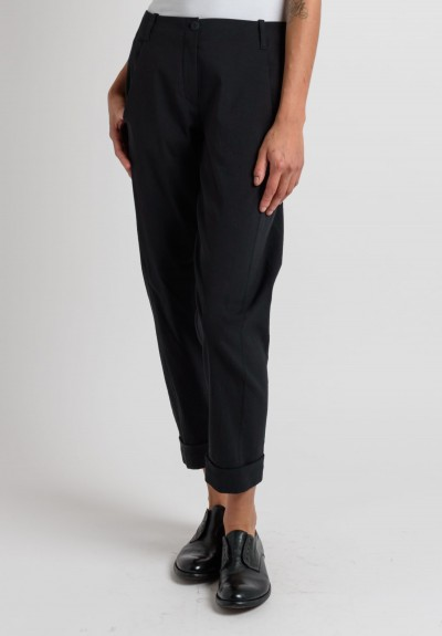 Annette Görtz Cuffed Relaxed Leg Pants in Black