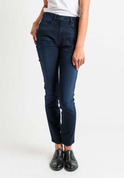 3x1 Light Faded High Rise Skinny Jeans in Dark Navy