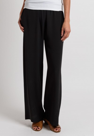 Eskandar Silk Light Weight Pants in Black