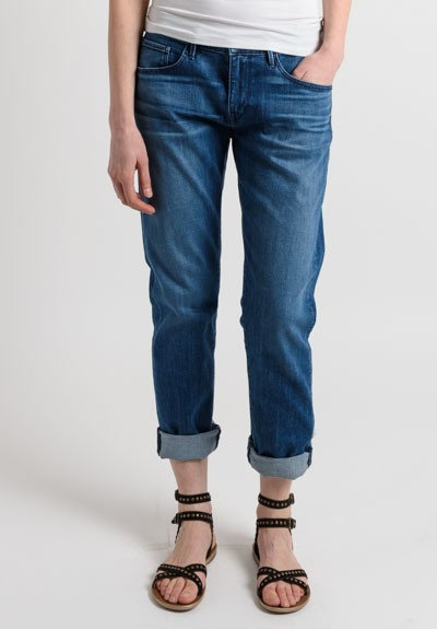 3x1 Slim Mid-Rise Boyfriend Jeans in Blue