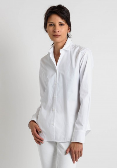 Lareida Cotton Fitted Shirt in White