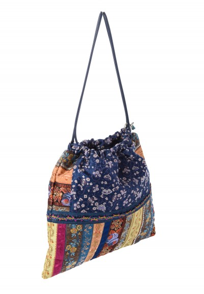 Etro Runway Draw Strap Clutch in Blue