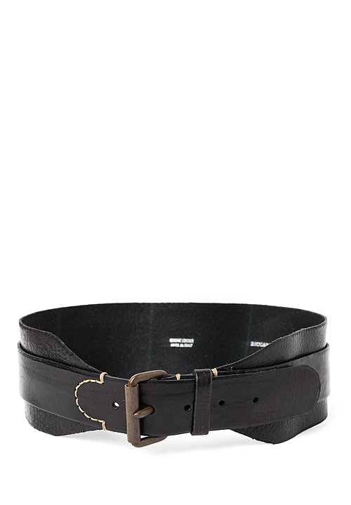 Riccardo Forconi Double Layer Belt in Black