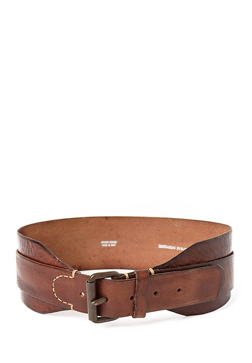 Riccardo Forconi Double Layer Belt in Brown