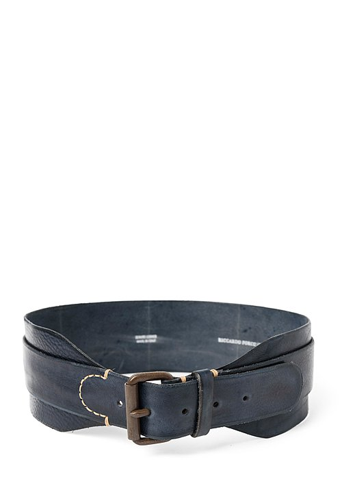 Riccardo Forconi Double Layer Belt in Blue