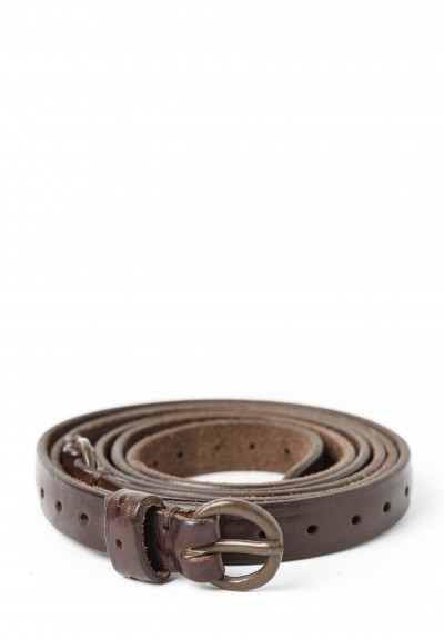 Riccardo Forconi Skinny Wrap Belt in Dark Brown