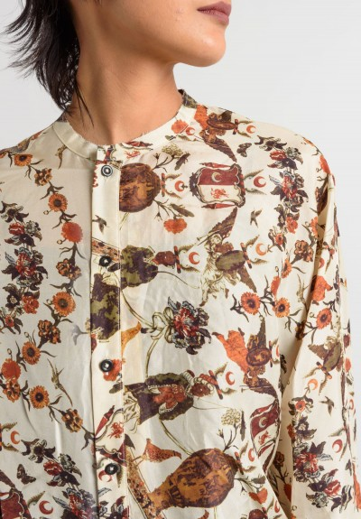 Gary Graham Print Shirt in Cream
