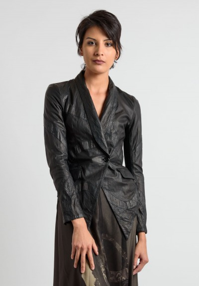 Share Spirit Leather Blazer in Black