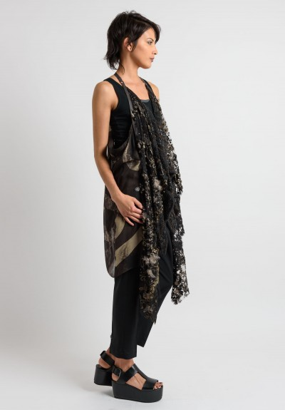 Share Spirit Vintage Lace Vest in Black