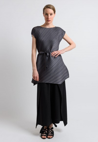 Issey Miyake Pleats Please Pleated Tunic in Stone
