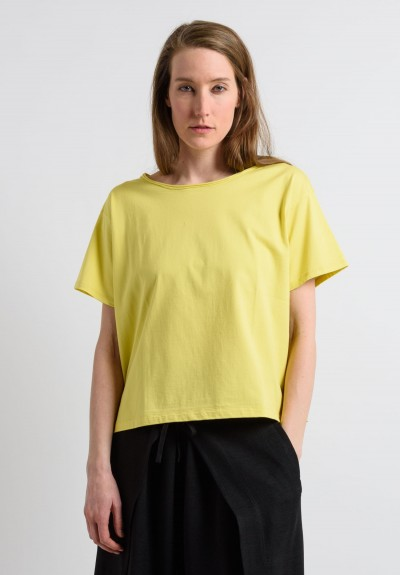 Issey Miyake Short Sleeve Top in Yellow