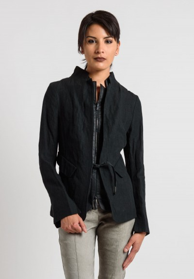 Annette Görtz Layered Tie Jacket in Black