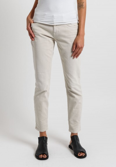 Closed Cropped Narrow Jeans in Beige