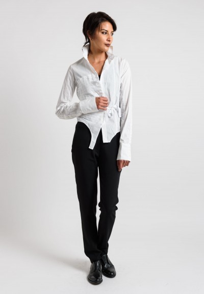 Marc Le Bihan Pleated Shirt in White