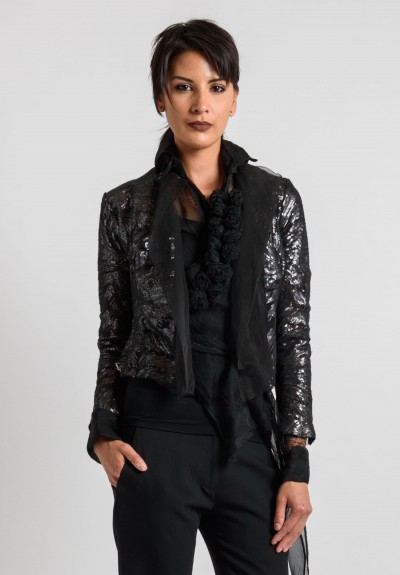 Marc Le Bihan Sequin Blazer in Black
