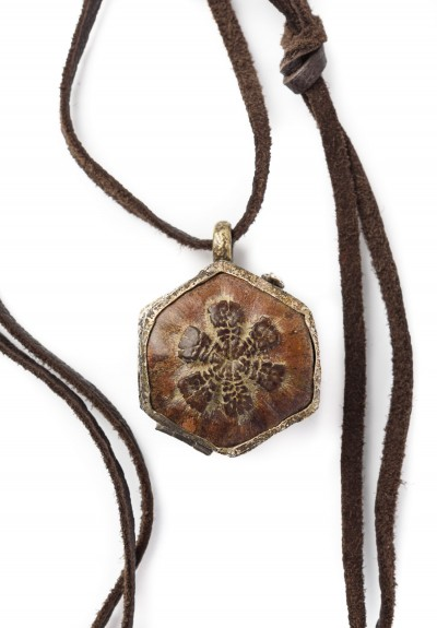 Lou Zeldis Coconut Shell Locket