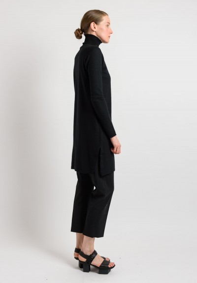 Rick Owens Cashmere Turtleneck Tunic in Black