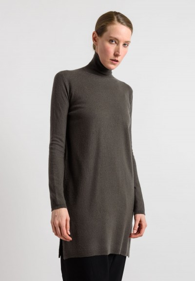 Rick Owens Cashmere Turtleneck Tunic in Darkdust