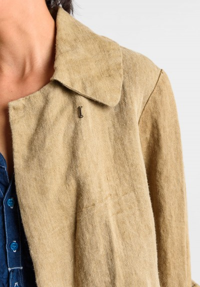 Greg Lauren Vintage Herringbone Jacket in Sand