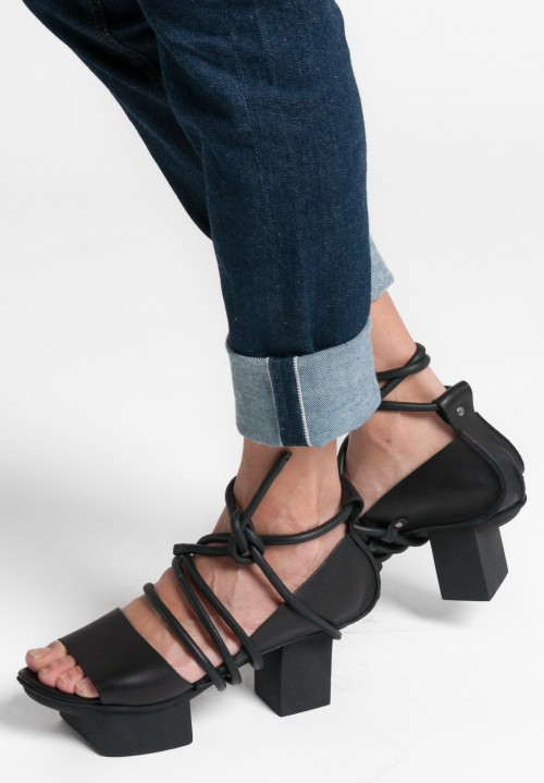 Trippen Ajar Sandal in Black