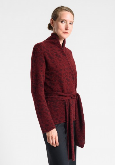 Lainey Cashmere Cardigan in Red