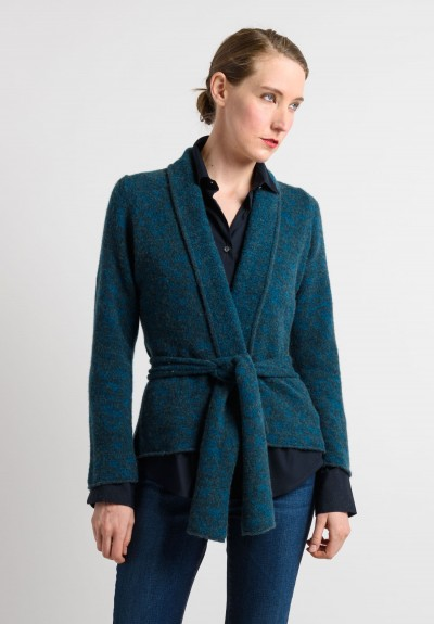Lainey Cashmere Cardigan in Turquoise