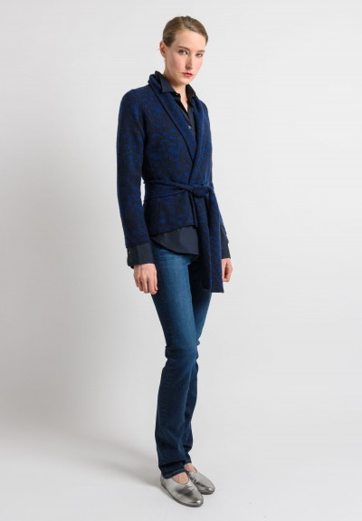 Lainey Cashmere Cardigan in Navy