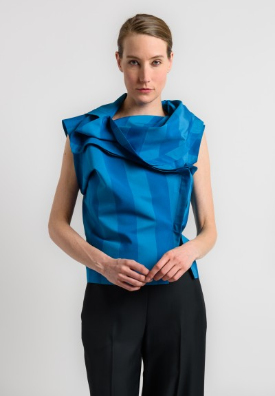 Issey Miyake 132 5. Origami Top in Blue