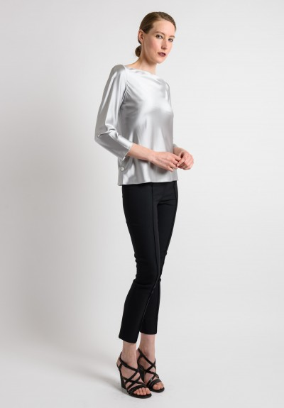 Peter Cohen Silk Top in Platinum