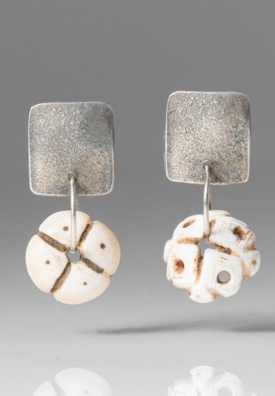Holly Masterson Hand Carved Shell Earrings