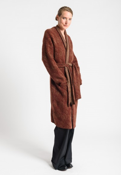 Lainey Cashmere Long Cardigan in Red
