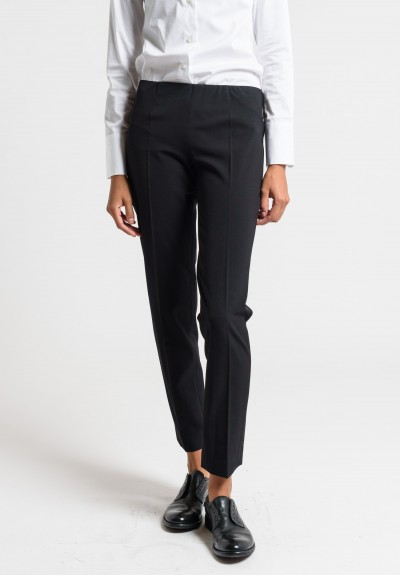 Brunello Cucinelli Pull-On Fitted Pants in Black