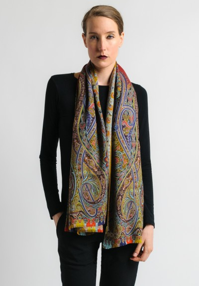 Etro Paisley Scarf in Red