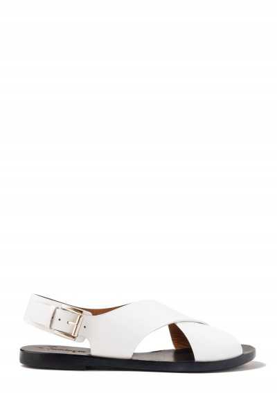 Flamingos Mango Sandals in White