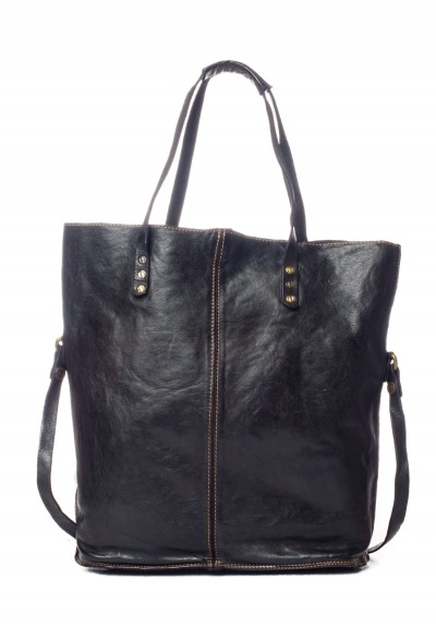 Campomaggi Leather Tote in Black